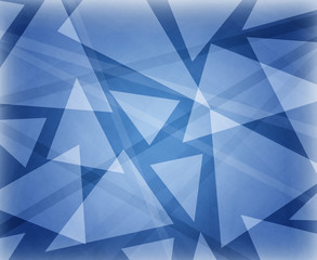 abstract blue background design with white floating triangles in layers, classy elegant website background template