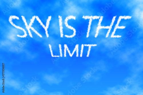 Sky Is The Limit Cloud Lettering Stockfotos Und Lizenzfreie Bilder