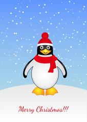 A cartoon penguin.