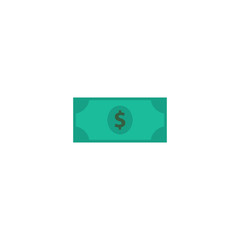 Flat Icon Dollar Element. Vector Illustration Of Flat Icon Greenback Isolated On Clean Background. Can Be Used As Money, America And Greenback Symbols.