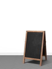 3d rendering of bulletin blackboard board white wall