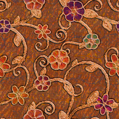 vintage floral fabric.High-resolution seamless texture