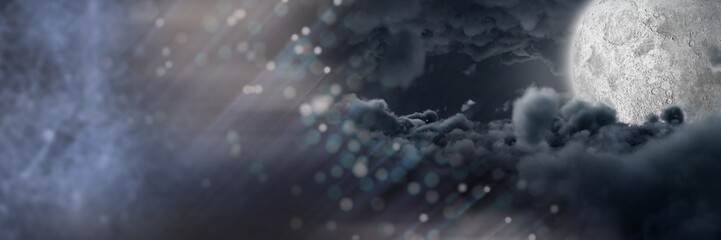 Dark mystical moon clouds transition