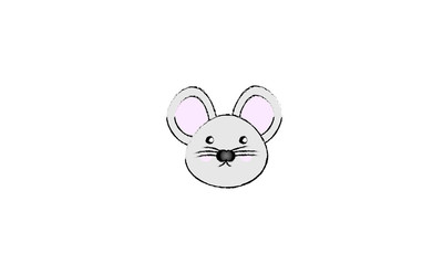 Face of mouse in drawing