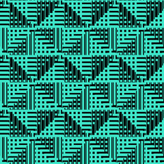 Abstract squares as pixels, black pixels. Flat design.High-resolution seamless texture