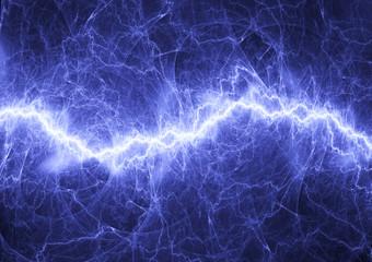 Blue fractal lightning, plasma power background