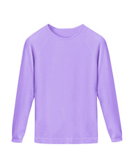 Lila violet classy casual sweater isolated on white