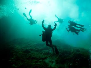 undersea Cuba, scubadivers