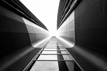 skyscraper with  glass windows in berlin