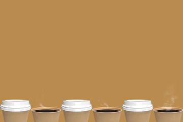 Coffee cups. (3d-rendering)