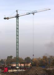 Cranes on construction site.