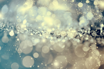 Photo sur Toile Arbre Abstract icy background with snowflakes