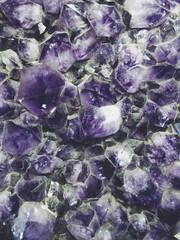 Close up of agate gemstones