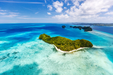 Palau islands from above Fototapete