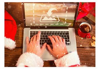 Santa with Laptop Mockup 4