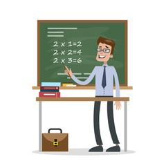 Isolated math teacher.