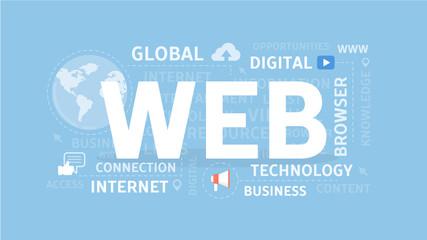 Web concept illustration.