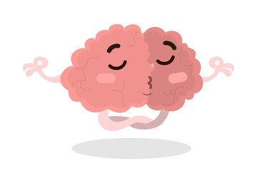 Isolated meditating brain.