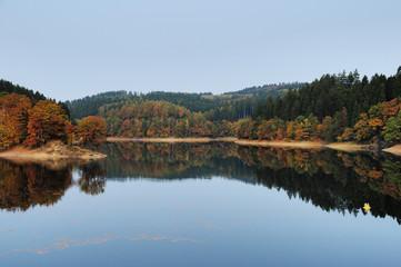 Herbst an Aggertalsperre - Aggertal und Rengsetal