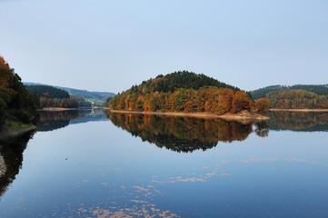 Herbst an Aggertalsperre - Genkeltal und Aggertal
