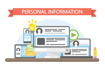 Personal information concept.