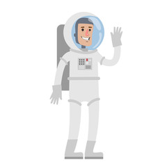 Isolated male astronaut.