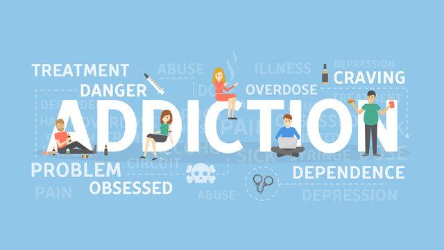 Addiction concept illustration.