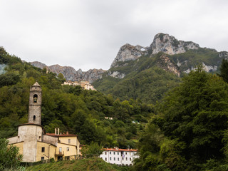 The Cardoso Church with the background of Monte Forato