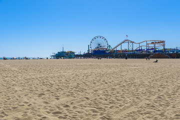 Pacific Park  at Santa Monica Beach, Los Angeles, California, USA