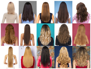 Collage Female hair