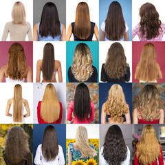 Collage Female hair