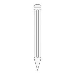 pencil isolated icon image vector illustration design  black line