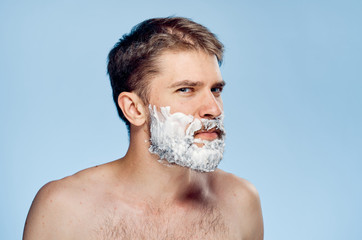 the man is ready to shave