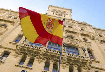 The controversial push for independence by Catalonia has increased demand for Spanish flags as many buildings in Madrid now display them in a show of nationalism in the European country