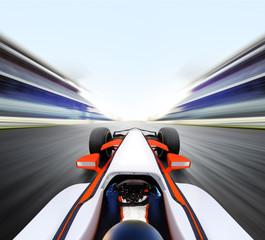 Foto op Aluminium F1 car driving on high speed road