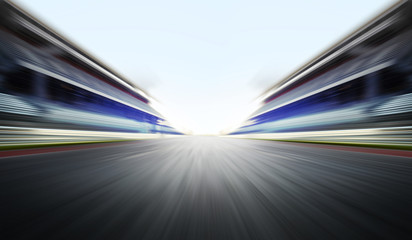 Acrylic Prints F1 motion blure background with road