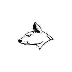 Angry dog icon