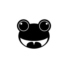 frog smiling face icon