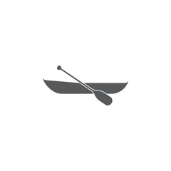 Boat with paddle icon