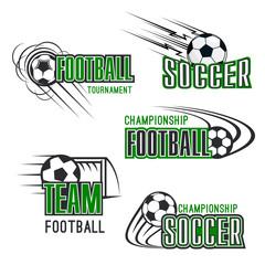 Vector soccer football tournament icons set