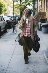 Homeless walking in Brooklyn
