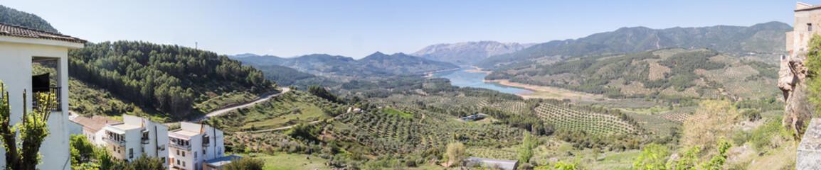 Guadalquivir river view, Tranco de Bea reservoir, Hornos de segura, Jaen, Spain