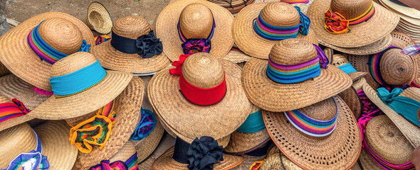 Shop of the straw hats, Mexico