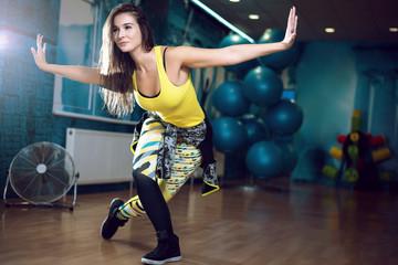 Foto auf Acrylglas Tanzschule Zumba dance workout female