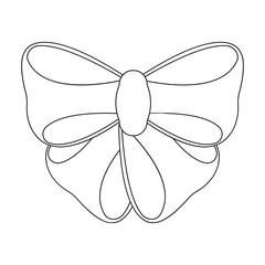 Node, ornamentals, frippery, and other web icon in outline style.Bow, ribbon, decoration,