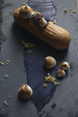 Lavender french eclair