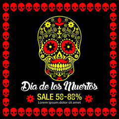 Day Of Dead Traditional Sale background