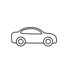 Car outline icon. Vector line transportation simple symbol