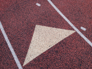 Detail of running track