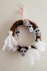 Hand made sugar skulls for halloween